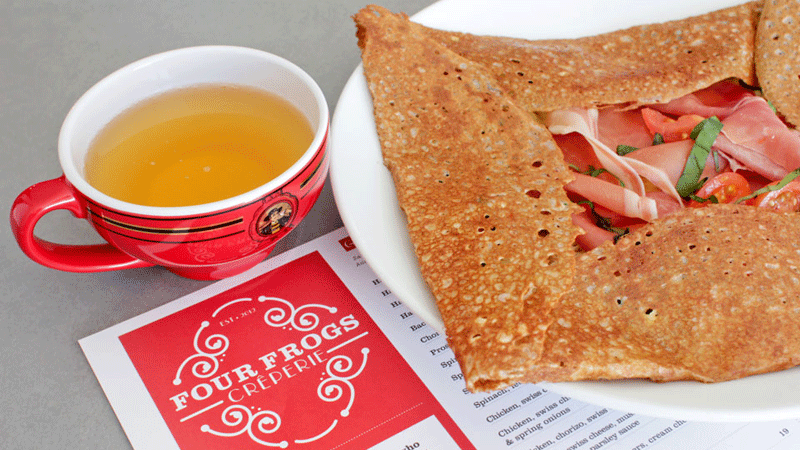 four frogs creperie galettes menu