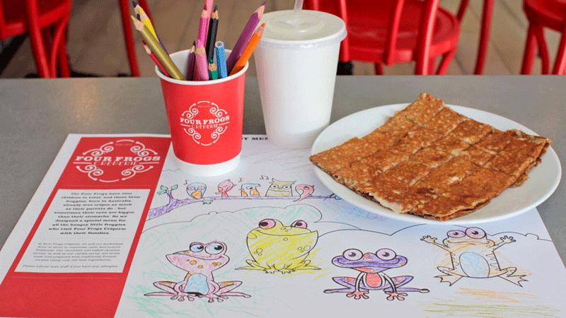 four frogs creperie kids menu