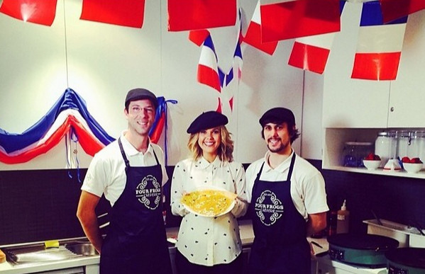 channel 7 sunrise bastille day crepes french restaurant sydney