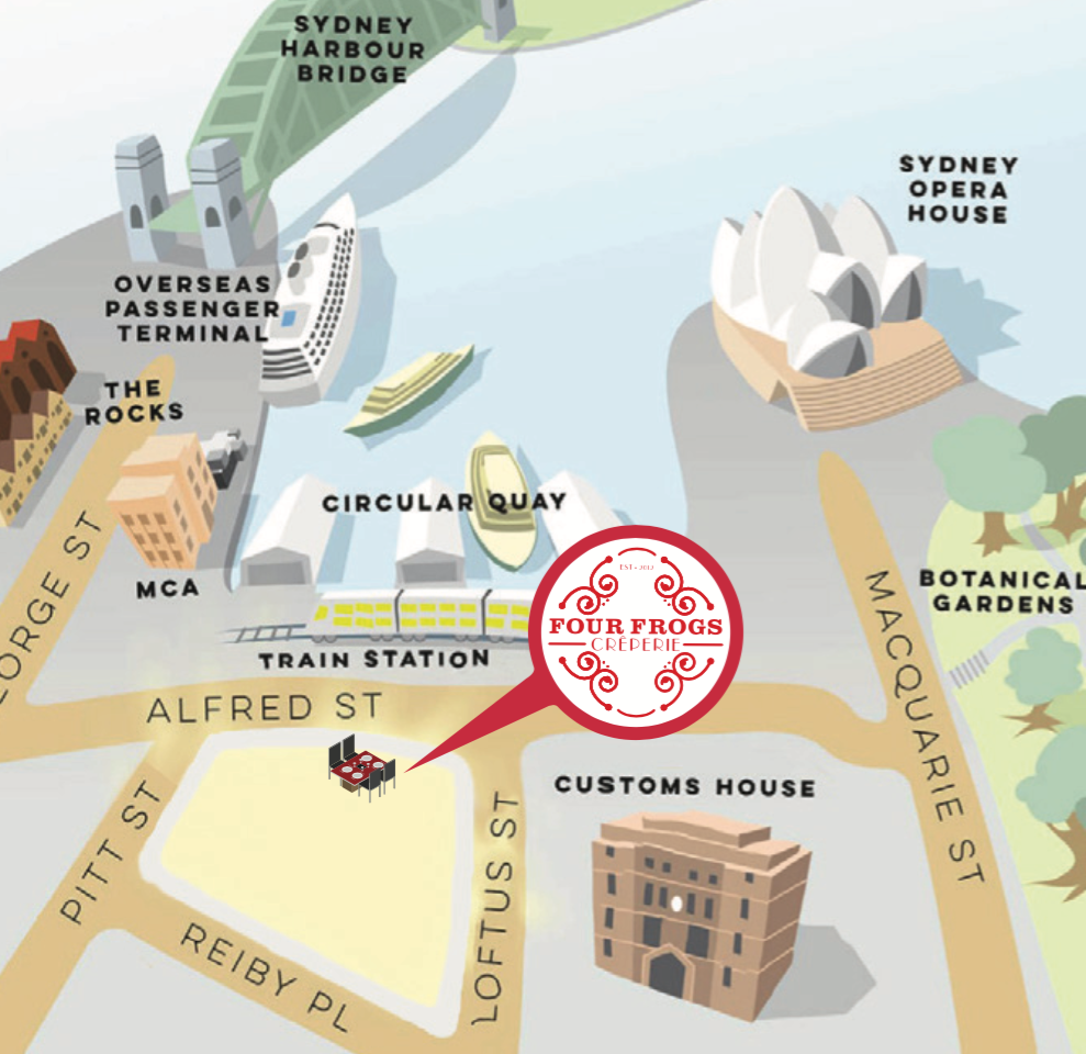 Four Frogs creperie > Circular Quay Map
