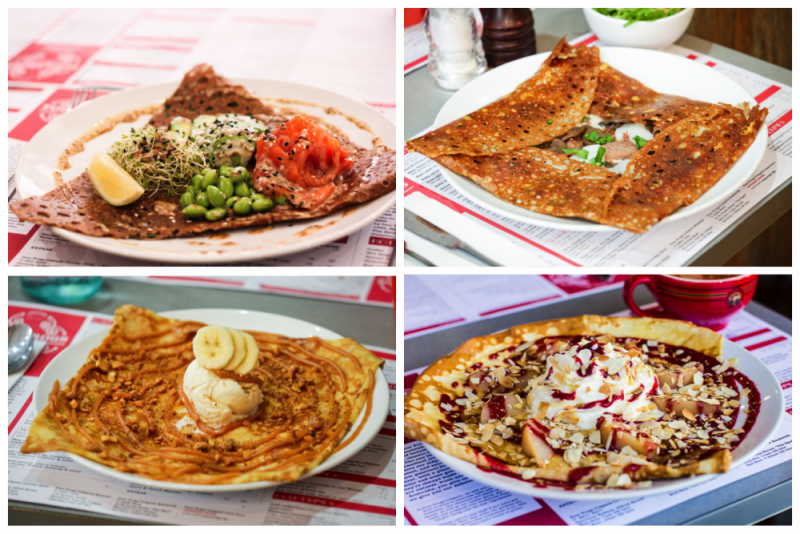 Four Frogs creperie > May specials crepes
