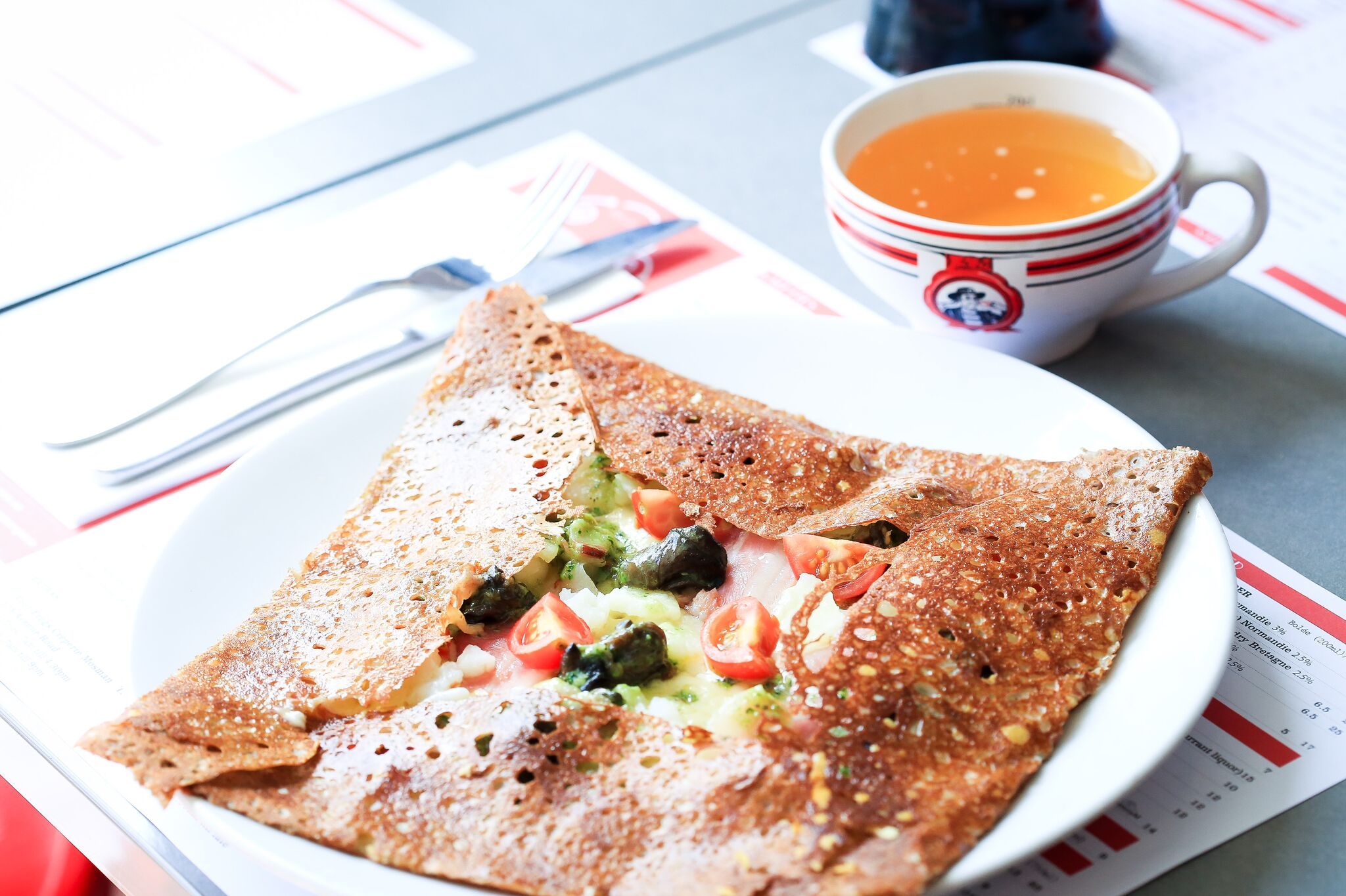 Four Frogs Creperie - snails galette