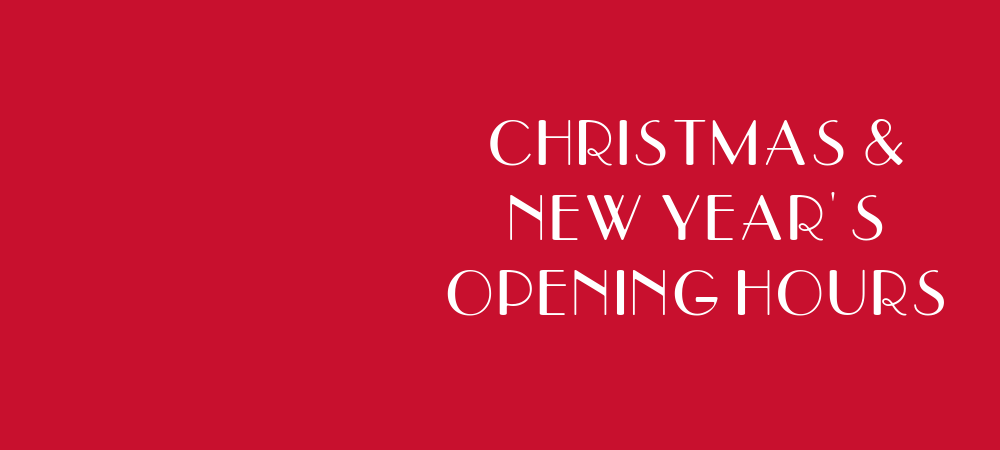 Christmas and NY opening hours