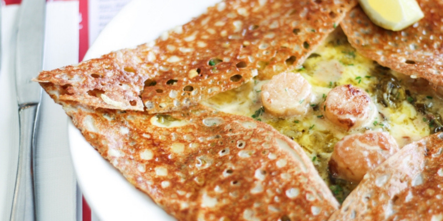 Four Frogs scallop galette
