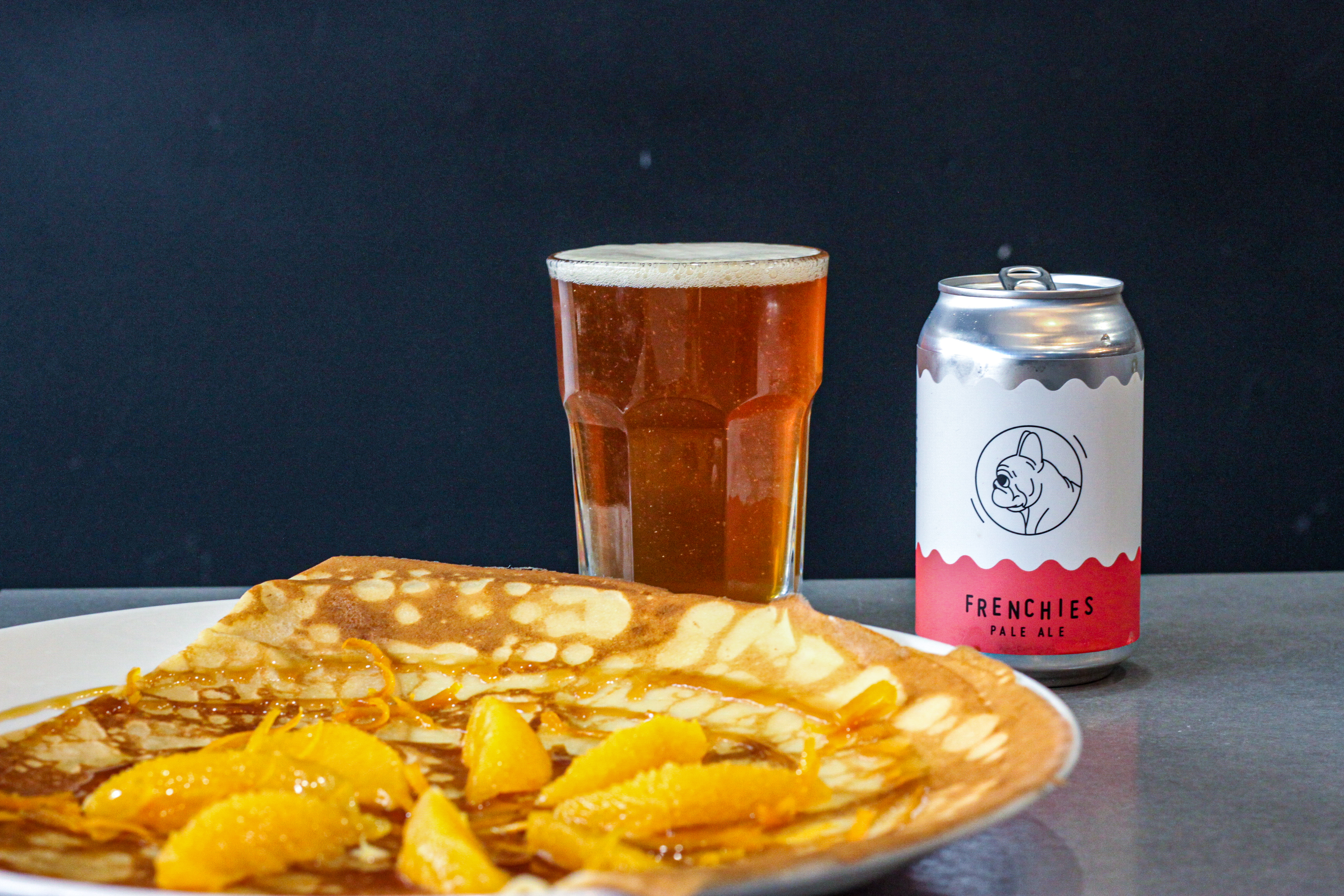Crepe Suzette with Frenchies pale Ale