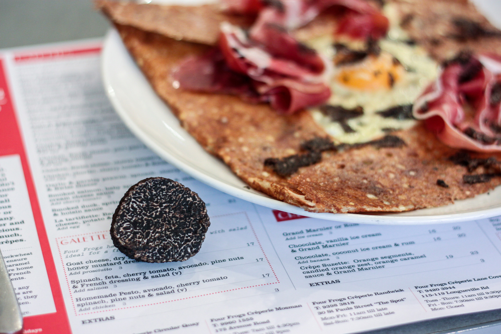 Four frogs creperie - Truffle galette 2